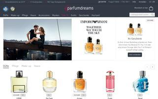 Parfumdreams Webseiten Screenshot