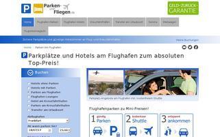 Parken-und-Fliegen Webseiten Screenshot
