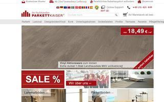 parkettkaiser.de Webseiten Screenshot