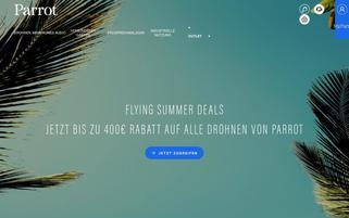 Parrot Webseiten Screenshot