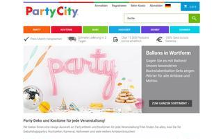 Party City Webseiten Screenshot