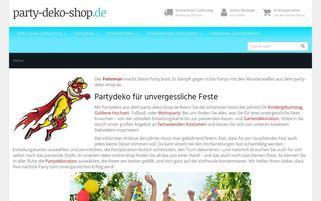 party-deko-shop.de Webseiten Screenshot