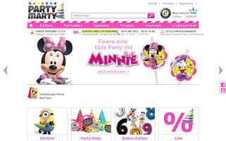 partymarty.de Webseiten Screenshot
