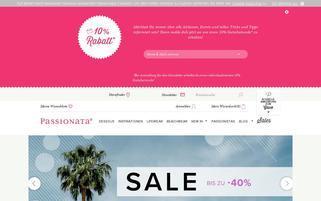 passionata.de Webseiten Screenshot