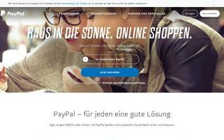 Paypal Webseiten Screenshot