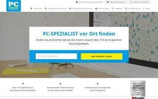 PC Spezialist Webseiten Screenshot