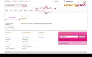 PeachyBoo Webseiten Screenshot