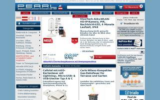 Pearl AT Webseiten Screenshot