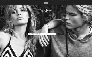 Pepe Jeans Webseiten Screenshot