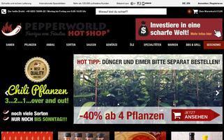 Pepperworld Webseiten Screenshot