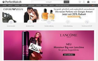 perfecthair.ch Webseiten Screenshot
