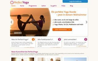 PerfectYoga Webseiten Screenshot