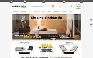 Perfekt-Schlafen.de Webseiten Screenshot
