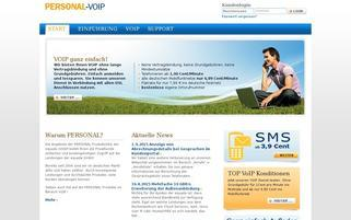 Personal VOIP Webseiten Screenshot