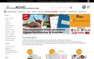 PersonalNOVEL Webseiten Screenshot