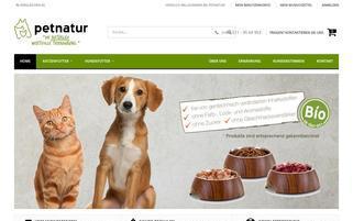 petnatur Webseiten Screenshot