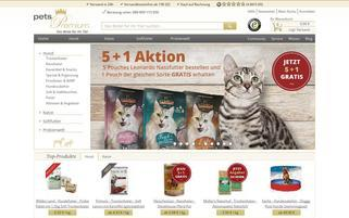 Pets Premium Webseiten Screenshot