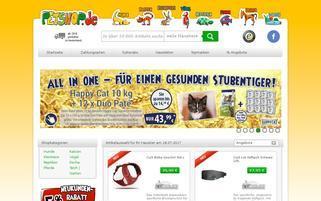 Petshop Webseiten Screenshot