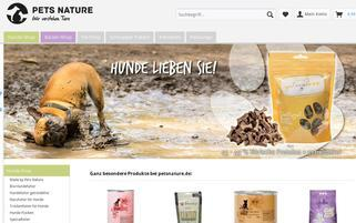 petsnature Webseiten Screenshot