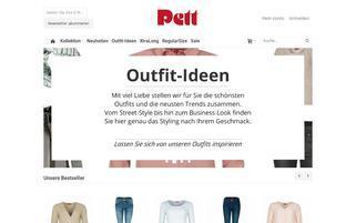pett-mode.de Webseiten Screenshot