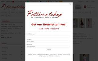 Petticoatshop Webseiten Screenshot
