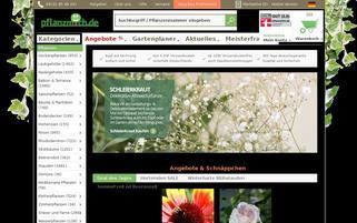 Pflanzmich Webseiten Screenshot