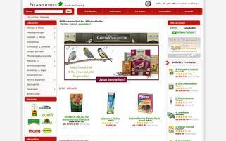Pflanzotheke Webseiten Screenshot