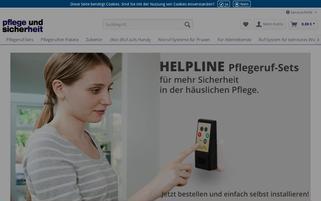 pflege-und-sicherheit.de Webseiten Screenshot