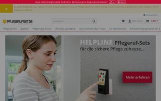 pflegerufset.de Webseiten Screenshot