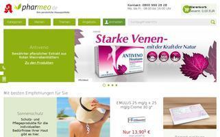 Pharmeo Webseiten Screenshot