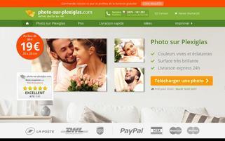 photo-sur-plexiglas.com Webseiten Screenshot