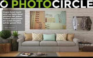 Photocircle Webseiten Screenshot
