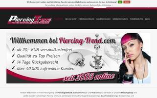 piercing-trend.com Webseiten Screenshot