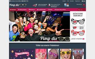 Pimp die Brille Webseiten Screenshot