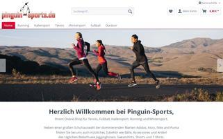 pinguin-sports Webseiten Screenshot