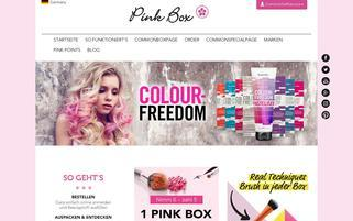 Pink Box Webseiten Screenshot