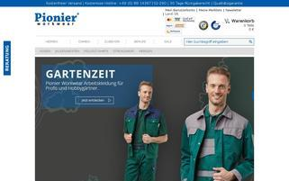 Pionier Workwear Webseiten Screenshot