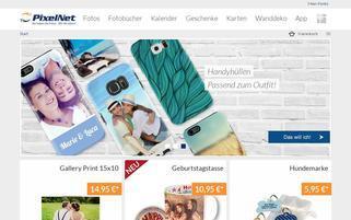 PixelNet Webseiten Screenshot