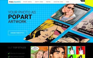 Pixeltalents Webseiten Screenshot