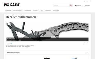 PIXXASS Webseiten Screenshot