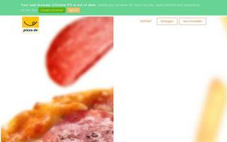 Pizza.de Webseiten Screenshot