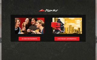 Pizza Hut Webseiten Screenshot