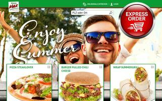 Pizza Max Webseiten Screenshot