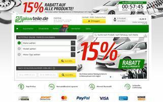 PkwTeile Webseiten Screenshot