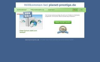 planet-prestige.de Webseiten Screenshot