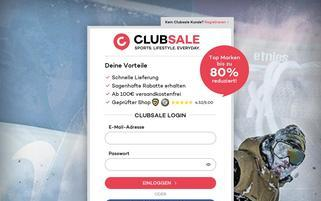 Planet Sports clubsale Webseiten Screenshot