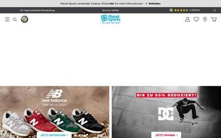 planet-sports.de Webseiten Screenshot