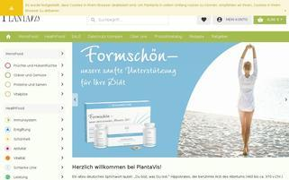 PlantaVis Webseiten Screenshot