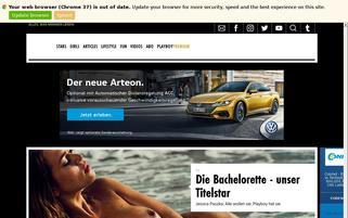 playboy.de Webseiten Screenshot