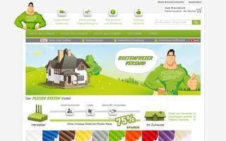 Plissee Riese Webseiten Screenshot